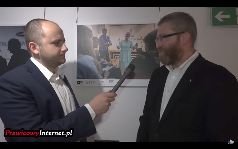 Grzegorz Braun dla Prawicowy Internet